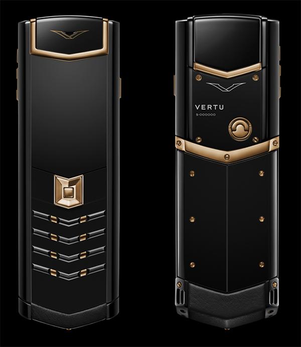 Vertu Signature S Red Gold Black DLC